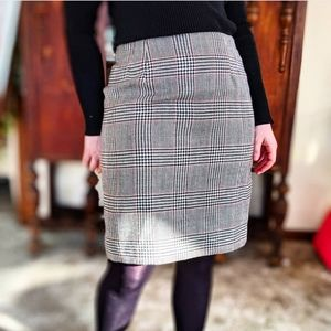 Retro 100% Worsted Wool Pencil Skirt